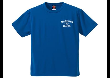 ドライTシャツ/コバルトブルー(プリント:オフホワイト)