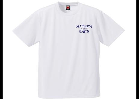 ドライTシャツ/ホワイト(プリント:ネイビー)