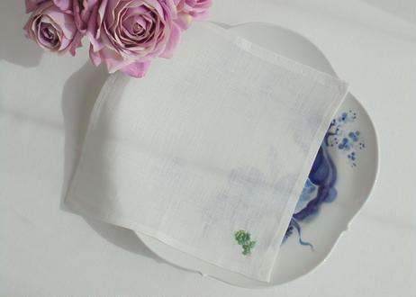 手刺繍バラのティーナプキン