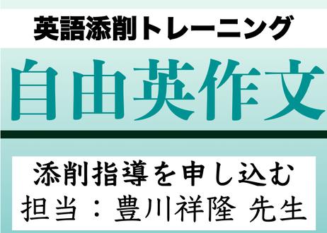 自由英作文トレーニング【添削2往復+メール質問対応】