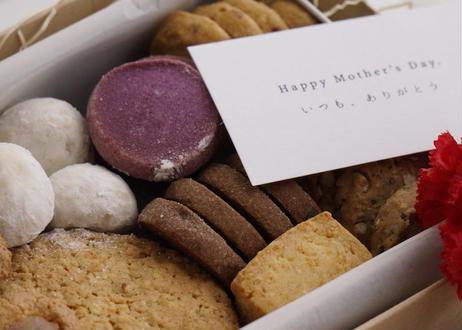 【母の日ギフト】メリリマクッキー缶(8種詰め合わせアソート)※ミニカーネーション&母の日カード付き