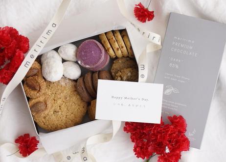 【通常ギフト】クッキー缶&チョコレートの赤いギフトボックス