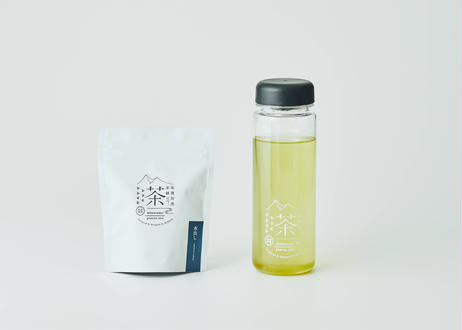 水出し煎茶(ティーバッグ)8個入り+リユースボトルセット  ※保冷用アイスチューブ付き