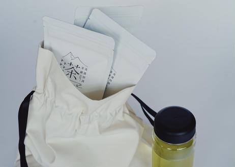 【父の日セット|ギフトバッグ入り】リユースボトル&水出しティーバッグのセット ※保冷用アイスチューブ付き