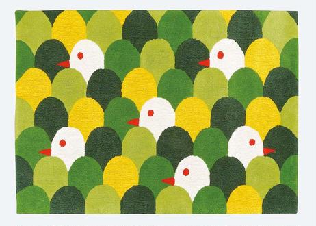 ラグマット mori tori (グリーン/140×200cm)