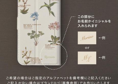 植物の手帳型スマホケース*カスタマイズ可 〔大型モデル専用〕