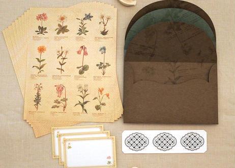 高山植物の図鑑風レターセット