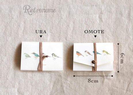 ちょっと大きめ*野鳥の図鑑風メッセージカード