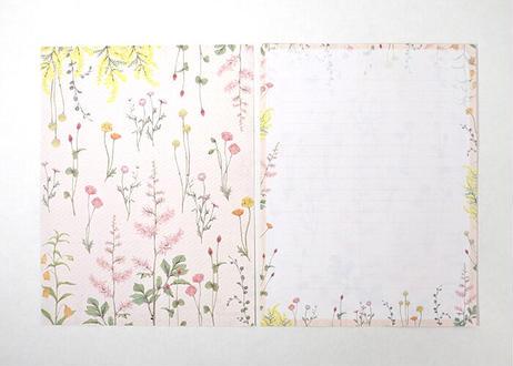 明るい花たちのレターセット