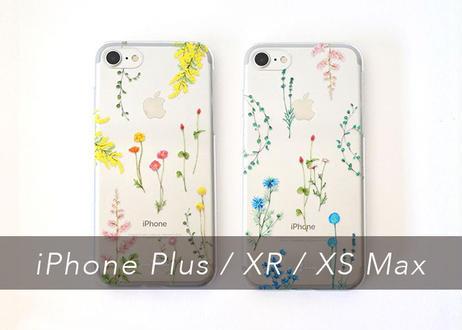花たちのiPhoneクリアケース〔大型モデル専用〕