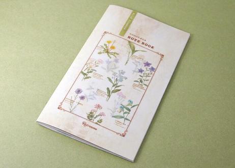 野の花の図鑑風スリムノート