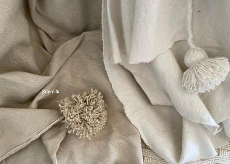 Pompom Blanket 【Lサイズ】200×310