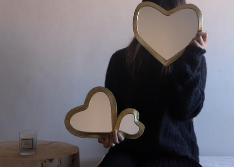 I love meHeart mirrorMサイズ【GOLD】