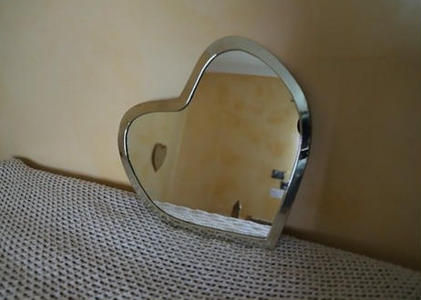 I love me Heart mirror Lサイズ【※Siler】