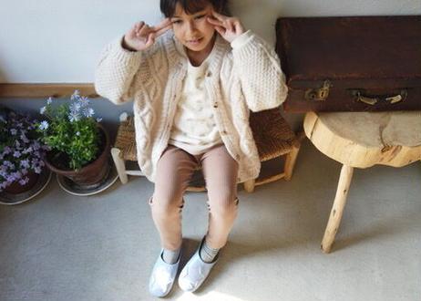 Kidsギンガムチェックのお星様バブーシュ Blue × Check Star