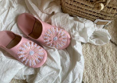 Baby pink × Cream バブーシュ