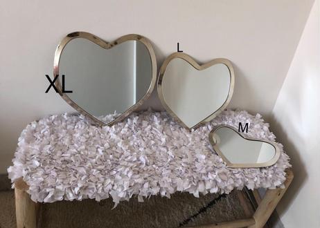 I love me Heart mirror Lサイズ 【GOLD】