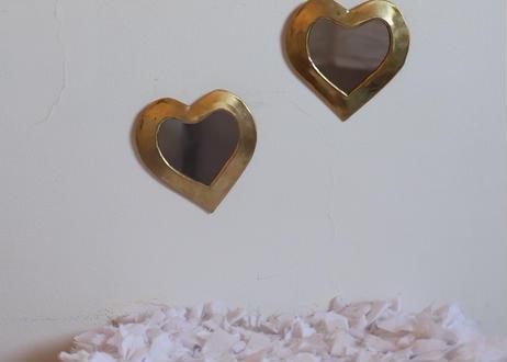 ※第7期予約販売 〜11月末発送 I love meHeart mirror いちばん小さめxsサイズ【GOLD】