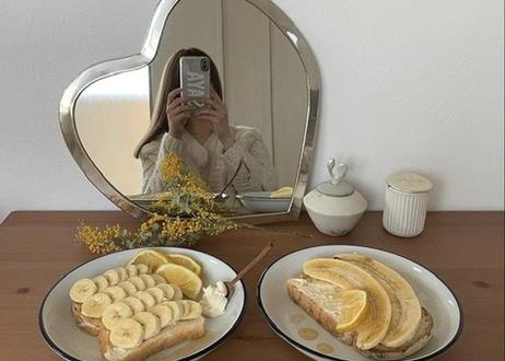 I love meHeart mirror いちばん大きめXL