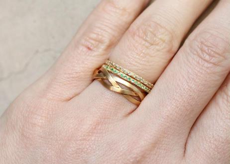 Emerald Half eternity Ring