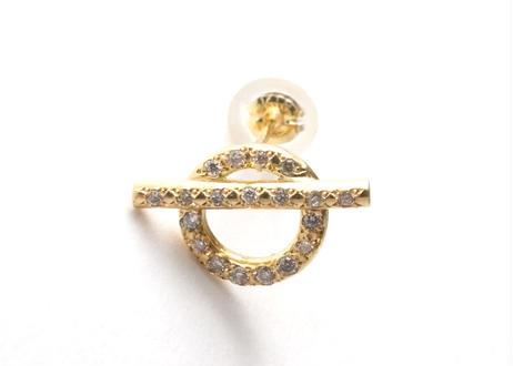 Mantel Full Diamond Pierced Earring