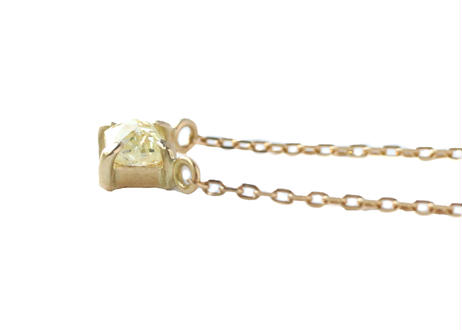 Natural Diamond  Prong Square Necklace