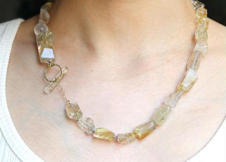 Golden Rutile Tsurara Necklace
