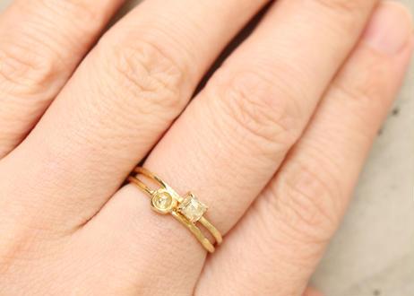 Natural Diamond Prong Square Ring