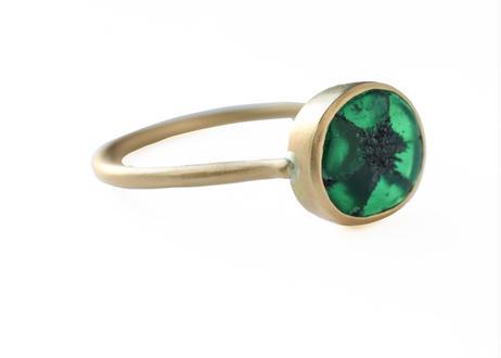 Trapiche  Emerald Oval Ring