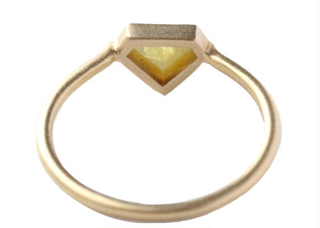 Natural Diamond Diamond-shaped Ring