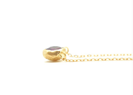 Amethyst Rough Collet Necklace