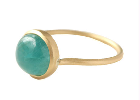 Grandidierite Round Cabochon Ring
