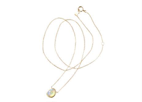 Crystal Black Opal  Necklace