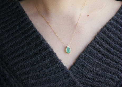 Colombia Emerald Pear-Shaped Necklace
