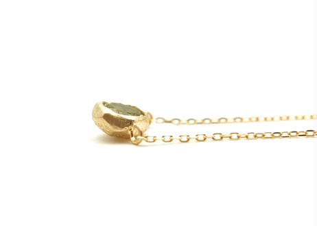 Peridot Rough Collet Necklace
