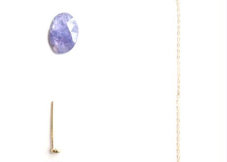 Tanzanite Pierced Earring