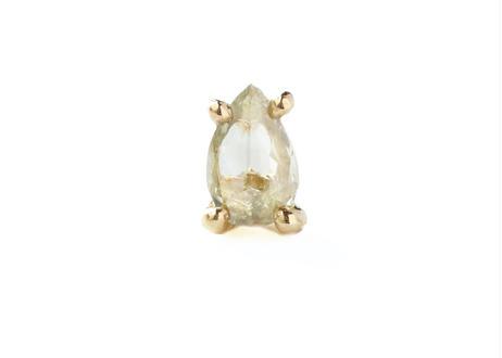 Diamond Pear-shaped Pierced Earring