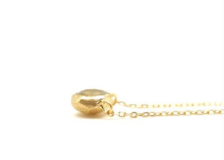 Aquamarine Rough Collet Necklace