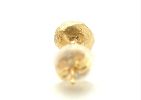 Peridot Rough Collet Pierced Earring