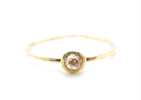 Natural Diamond Rough Collet Mini Ring