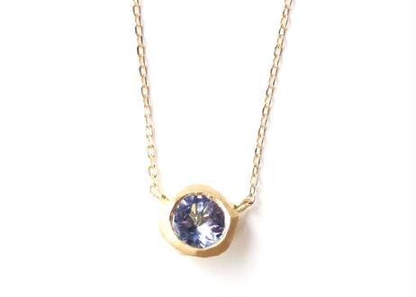 Tanzanite Rough Collet Necklace