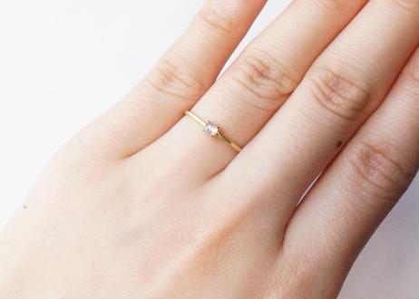 Natural Diamond Prong Ring