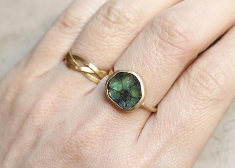 Trapiche  Emerald Unshaped Ring