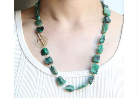 Emerald Tsurara Necklace