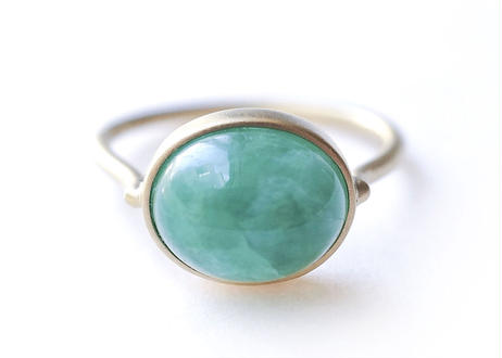 Emerald Matrix Cabochon Ring