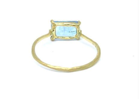 Aquamarine Square Ring