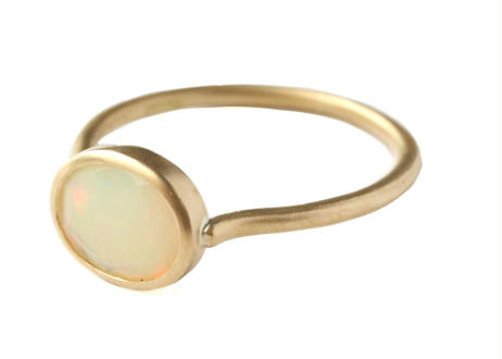 Opal Facetcut Oval Ring