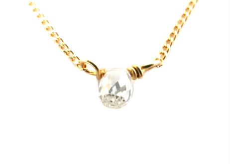 Briolette Diamond Necklace