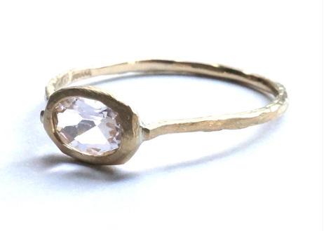Morganite Rough Collet Ring