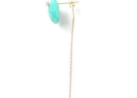 Amazonite Flat Pierced Earring